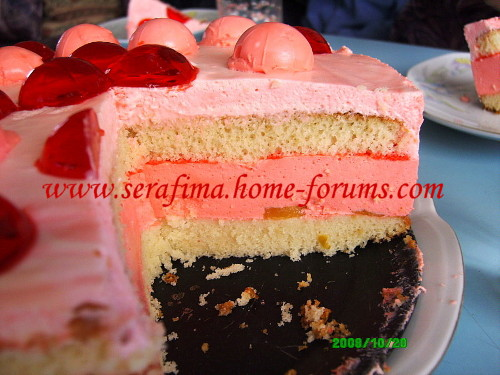 Бисквитный торт с клубничным суфле B45d50bffa74