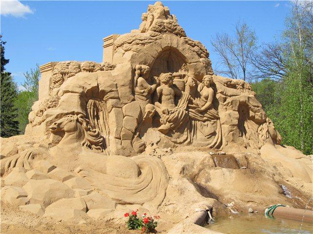 """Международный фестиваль песчаной скульптуры «Знаменитые фонтаны мира"""" 70b347f0d460"""