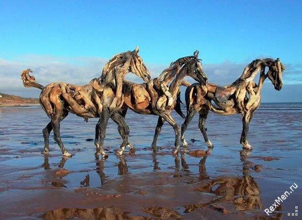 Потрясающие деревянные лошади 878435fb8edc