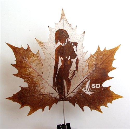 Креатив на кленовых листьях 181563644698