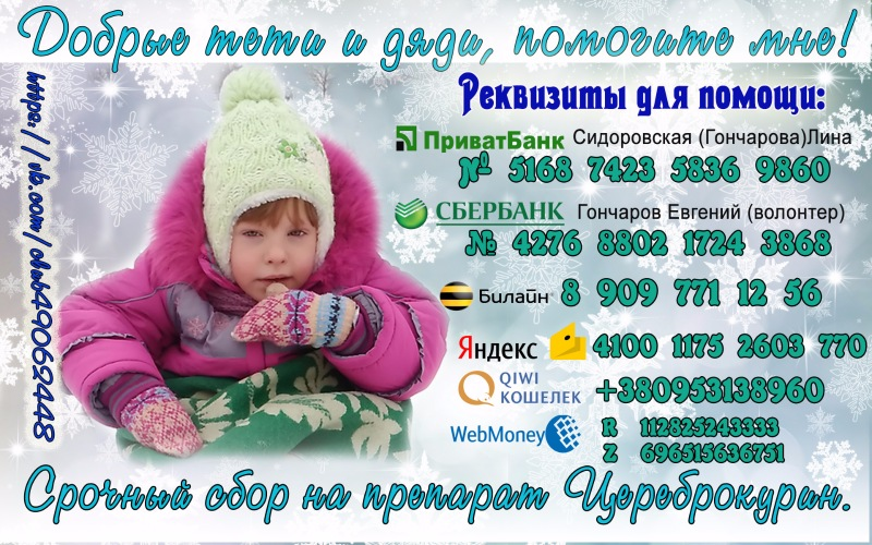 Помогите собрать средства на лечение дочери! 0b7a60723a61