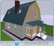 Проект часного дома с мансардой  5bba756172d5