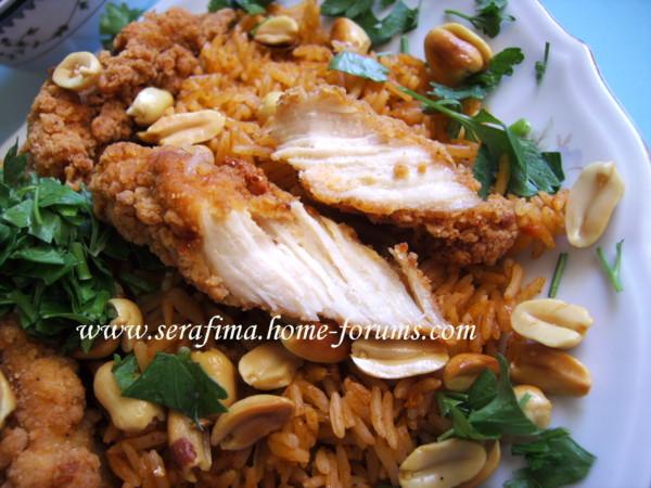 Кабсе (кабса). Красный прянный рис с курицей. Арабская кухня 53d43c4bb57b