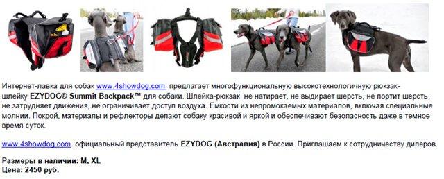 www.4showdog.com интернет-лавка товаров для собак 74f25304ddfc