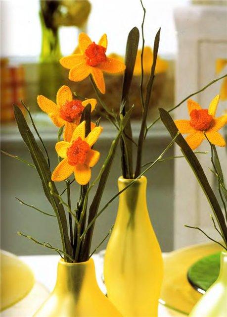 Вязаные цветы 3f0b75754014