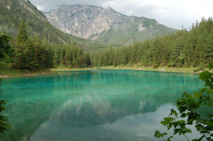 Grüner See - зелёное(Изумрудное) озеро в Австрии  2d144ca1edb2