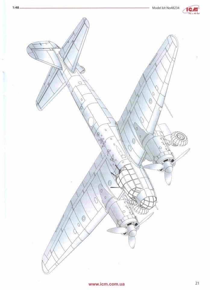 Обзор Ju-88A-14, 1/48, (ICM 48234). 157fef04ddf9