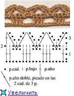 Обвязка края крючком и брители для топиков 71fc39fb228dt