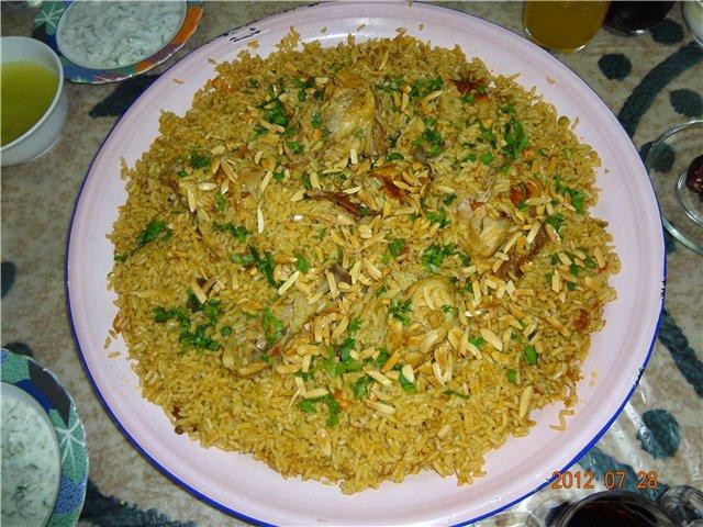 Кабсе (кабса). Красный прянный рис с курицей. Арабская кухня - Страница 2 C83aedf46454
