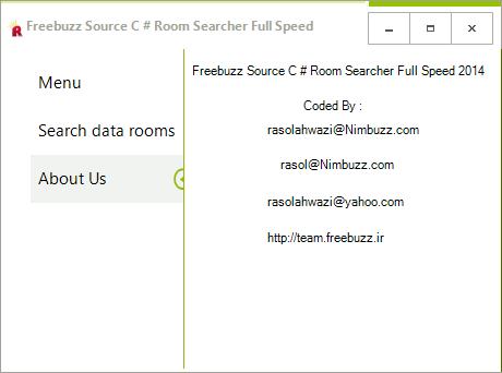 Freebuzz TeaM Source C # Room Searcher Full Speed By Rasol Dsccds32432
