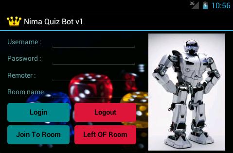 Nimbuzz Quiz Bot for android Main