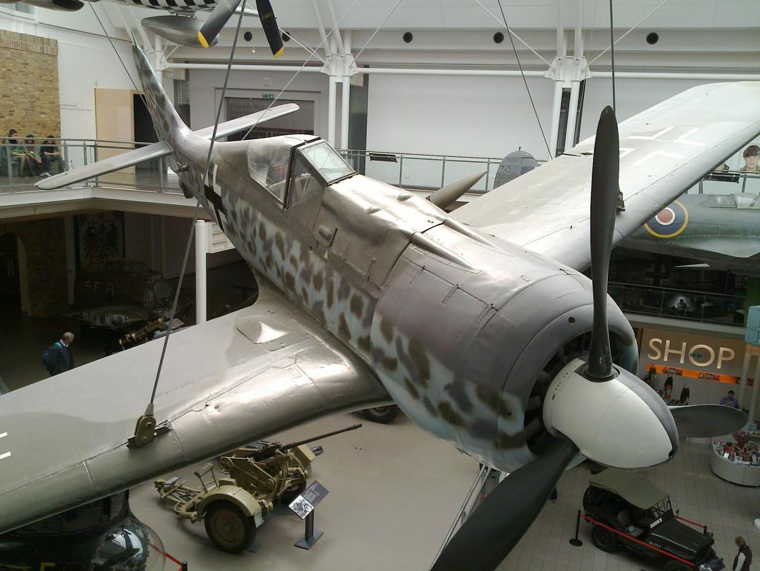 Slike: Imperial War Museum v Londonu (POZOR: VELIKE SLIKE) German_Focke_Wulf_Fw_190_3