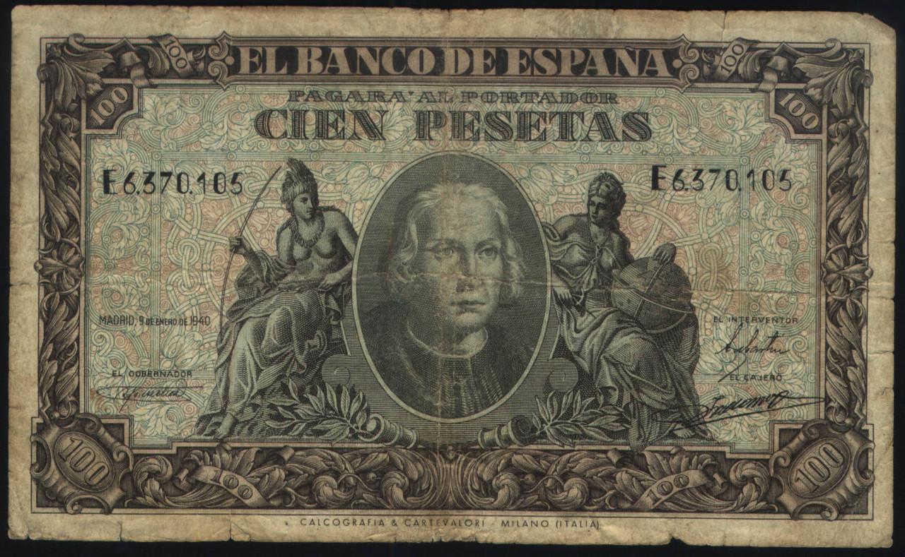 Billete de 100 Pts de 1940 Cien_pesetas