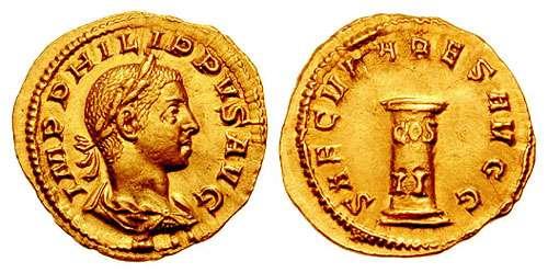 Antoniniano de Otacilia Severa. SAECVLARES AVGG. Hipopótamo. RIC_0225