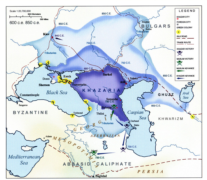 "Хронология + Локализация + ""Катастрофа 1500"" - Страница 3 Khazaria_map_from_600_till_850"