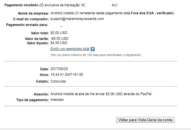 OPORTUNIDADE [Provado] Money Maker Cash App - Ganha Instalando Apps, Vendo Vídeos e Check-in Diário - RECEBIDOS $ 32,00 + € 2,00 MMcashout4