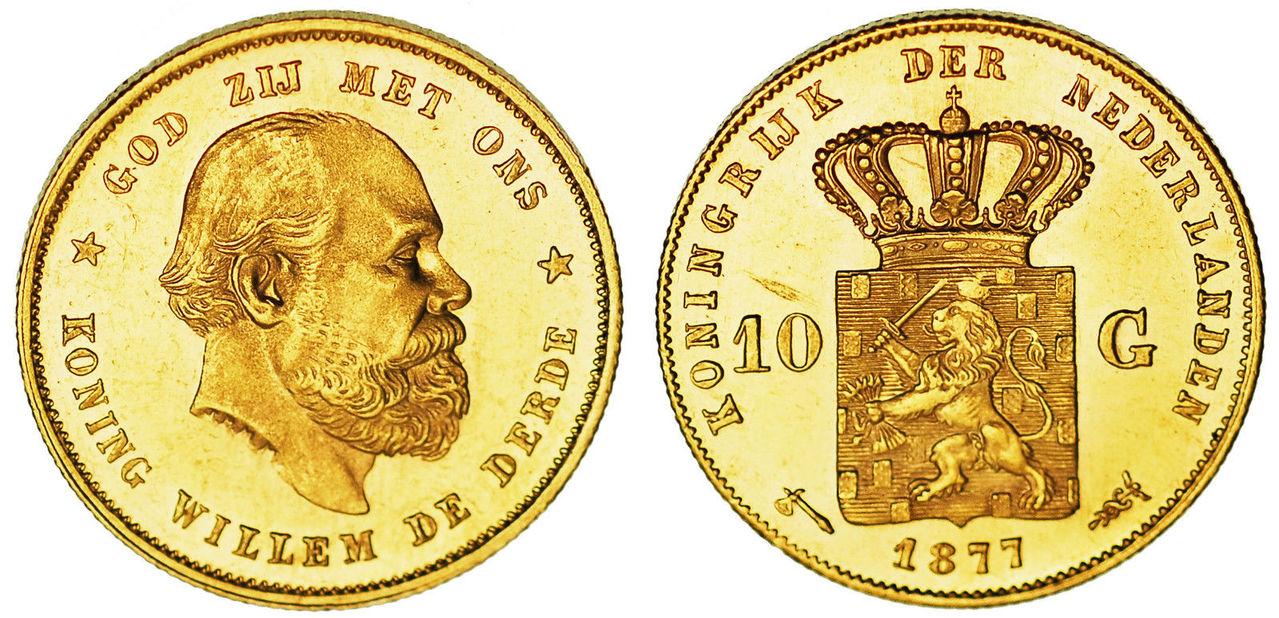 Holanda, 10 Gulden oro 1877. 57_19