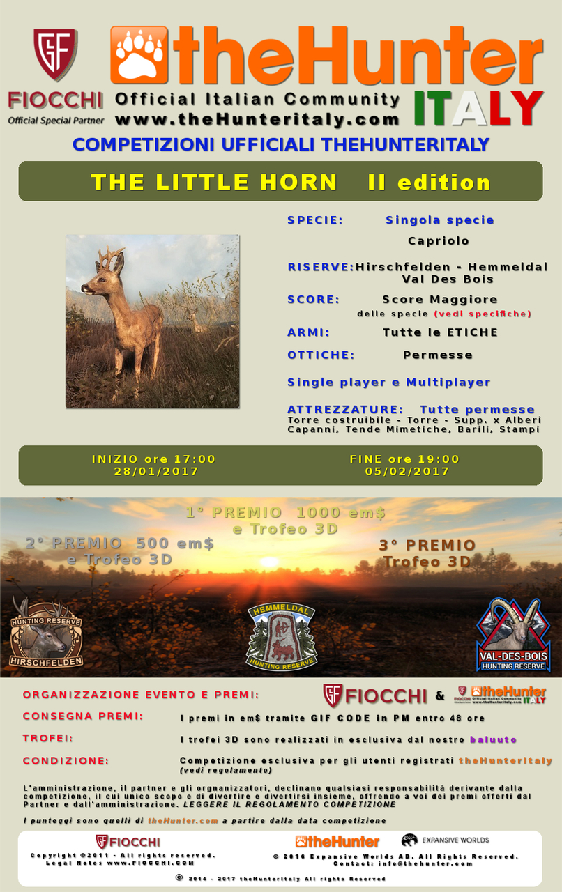 [CONCLUSA] Competizioni ufficiali TheHunteritaly - THE LITTLE HORN II edition - Capriolo THE_LITTLE_HORN_II_ED_OMBRE