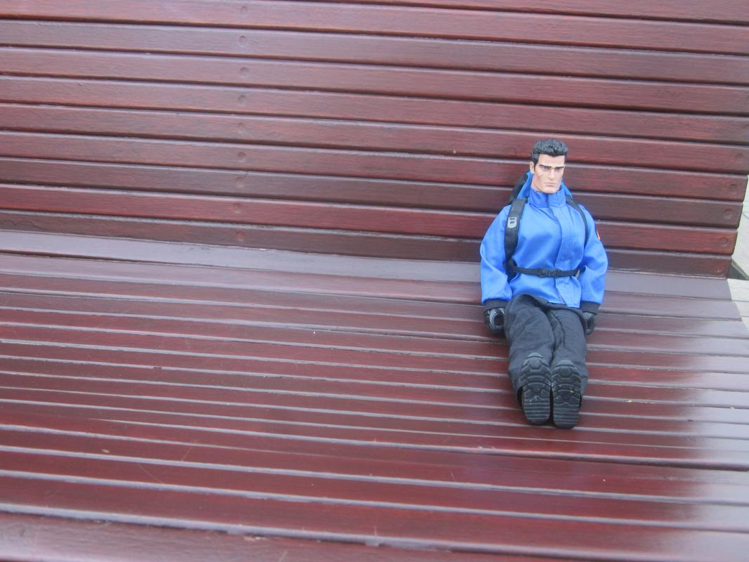 My Action Man on the Mersey Ferry. IMG_5604