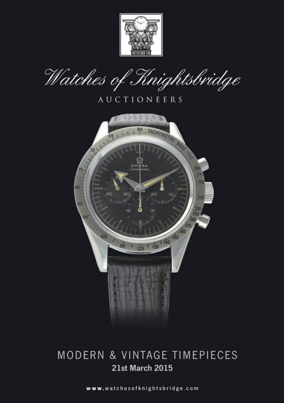 Catálogo - Watches of Knightsbridge: Modern and Vintage Timepieces – Março 2015 WOK_Modern_and_Vintage_Timepieces_210315