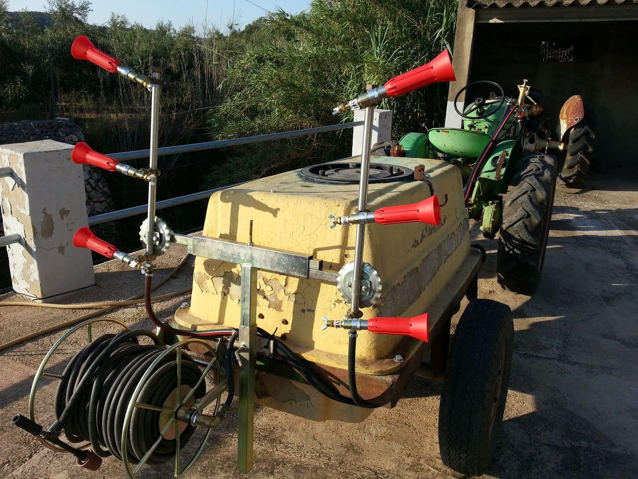 Restauración de una cuba de 600 litros para pasar la Inspección de Equipos de Aplicación de Fitosanitarios Barrasymanguera