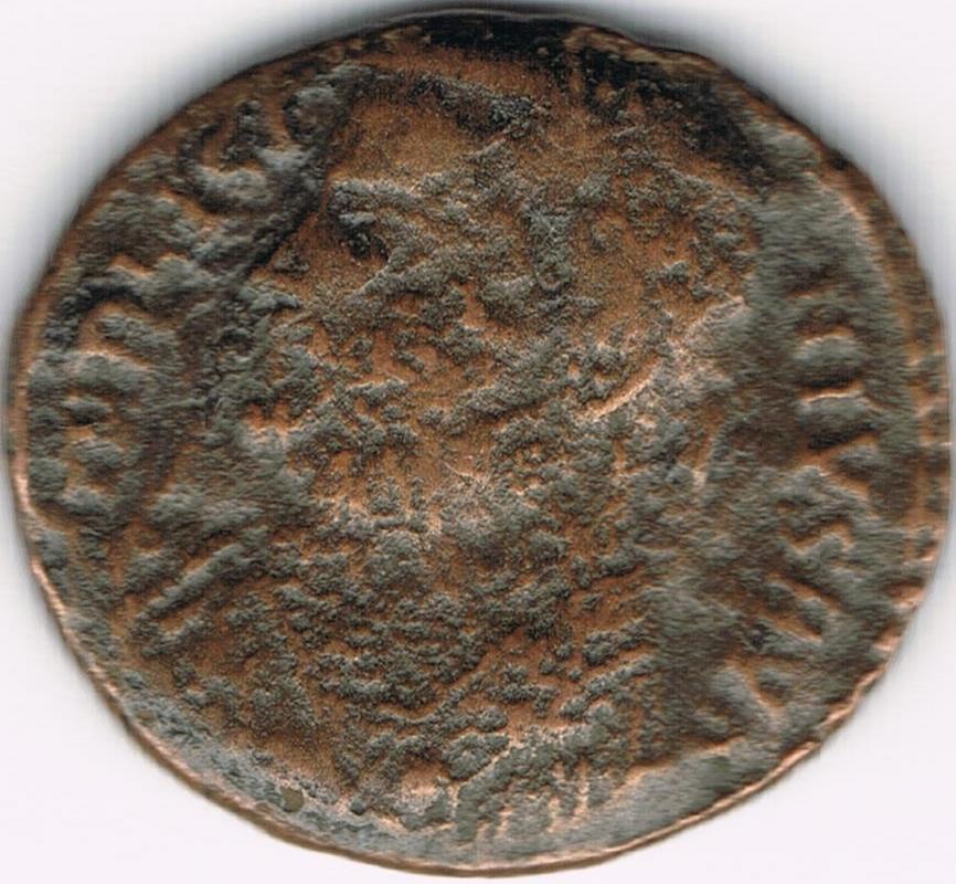 Nummus de Licinio I. IOVI CONSERVATORI AVGG. Júpiter estante a izq. Nicomedia. IR36