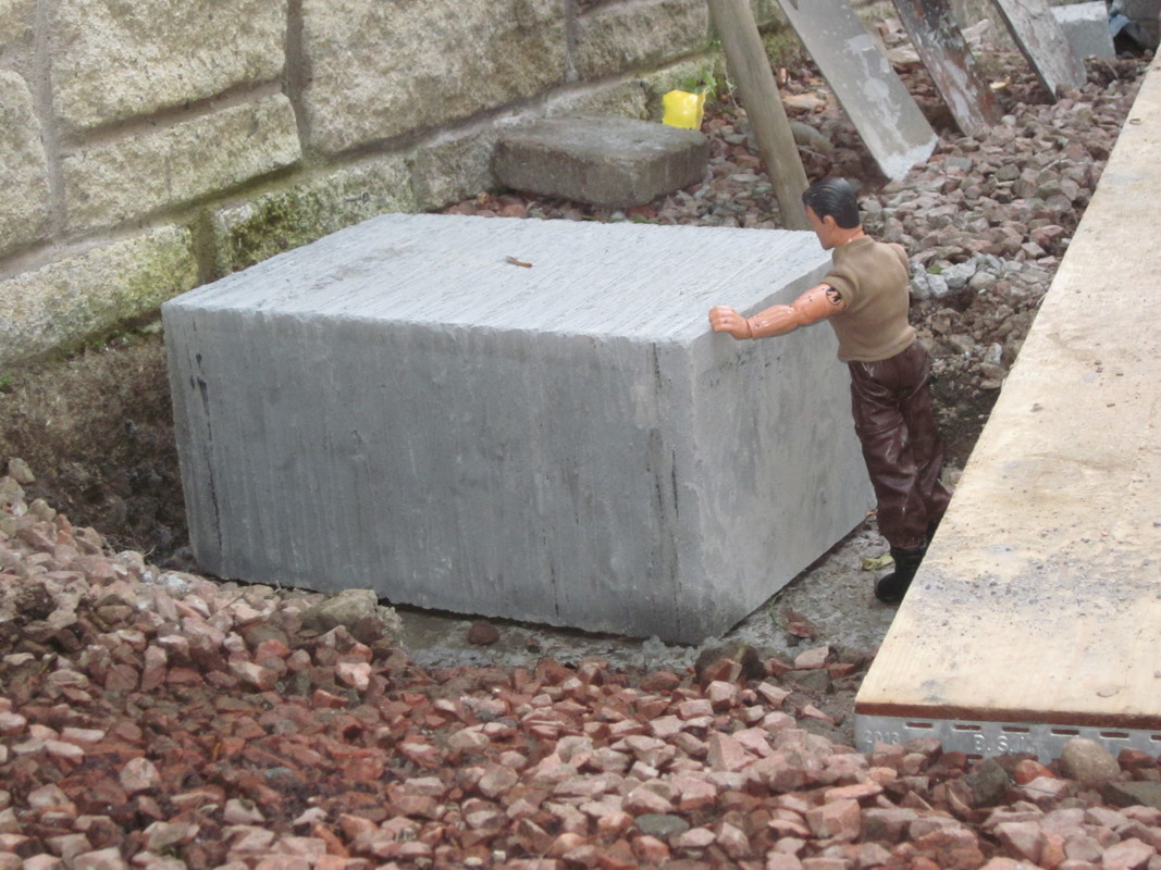 Action Man helping to build a stone and slate shed IMG_2967