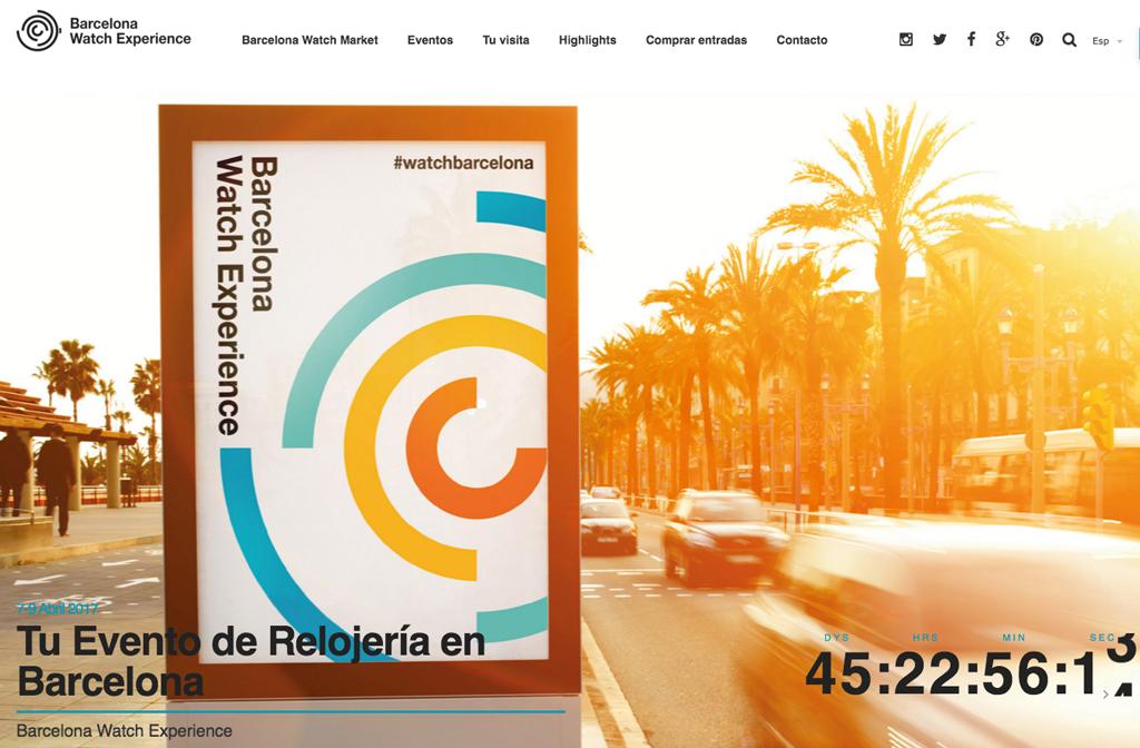 Barcelona Watch Experience 2017 - 7,8 e 9 de Abril  Bwe