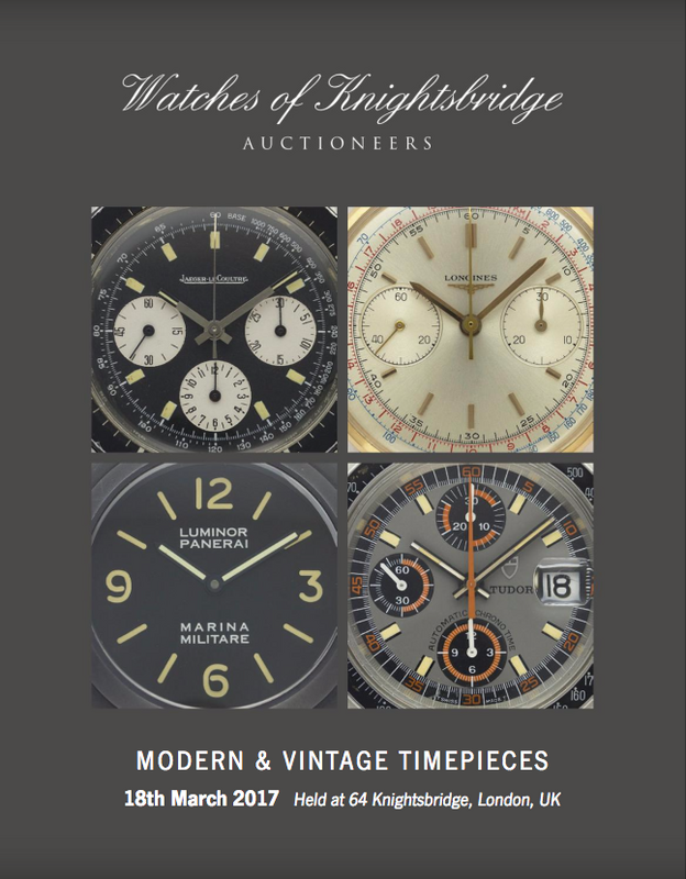 Catálogo - Watches of Knightsbridge: Modern and Vintage Timepieces – Março 2017 WOK_Modern_and_Vintage_Timepieces_180317