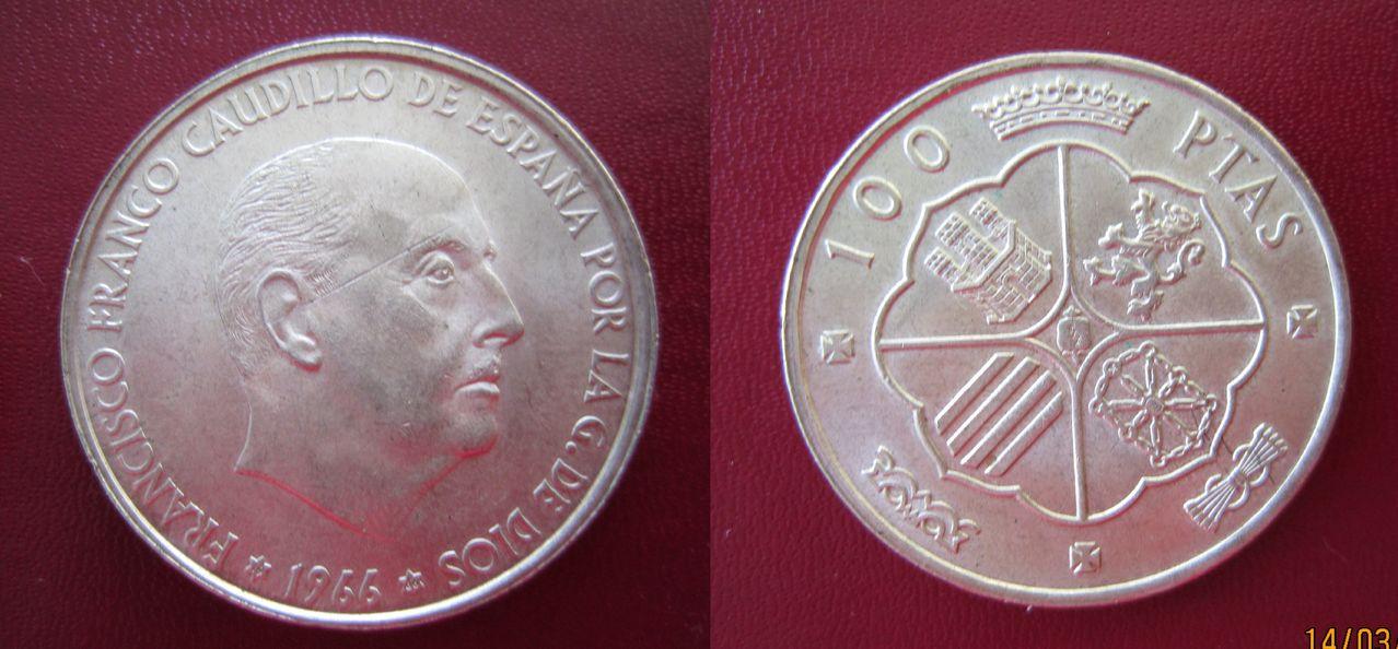 100 pesetas 1966 (*19*66). Estado Español 100_pesetas_1966_Francisco_Franco