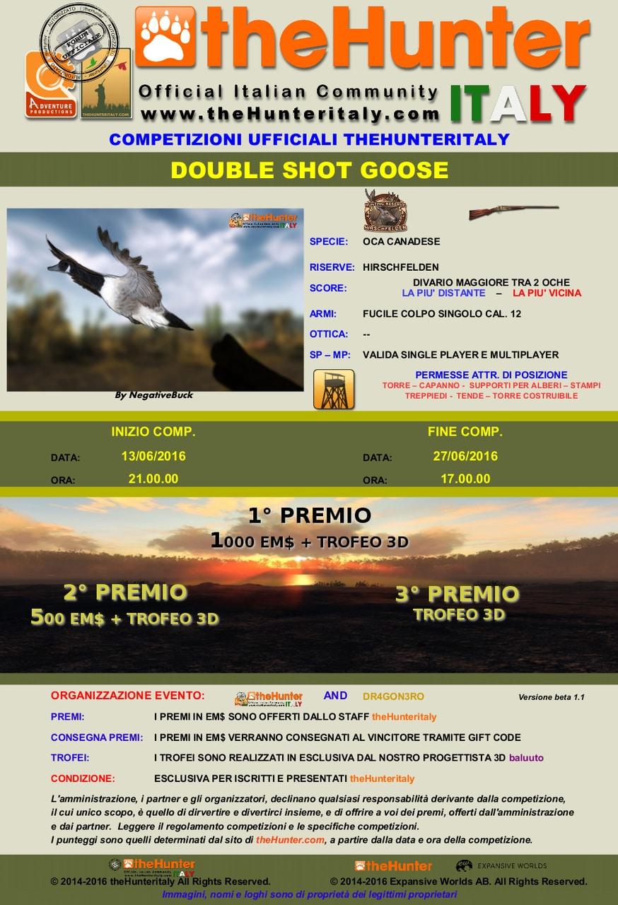 [CONCLUSA] Competizioni ufficiali TheHunteritaly - Double Shot Goose -  - Oca Canadese DOUBLE_SHOT_GOOSE