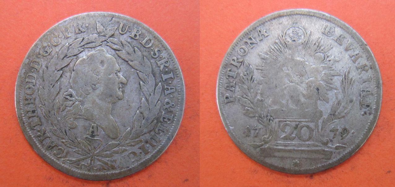 20 kreuzer 1779. Amberg (Baviera). Carlos Teodoro del Palatinado y Baviera 20_kreuzer_1779_Amberg_Baviera