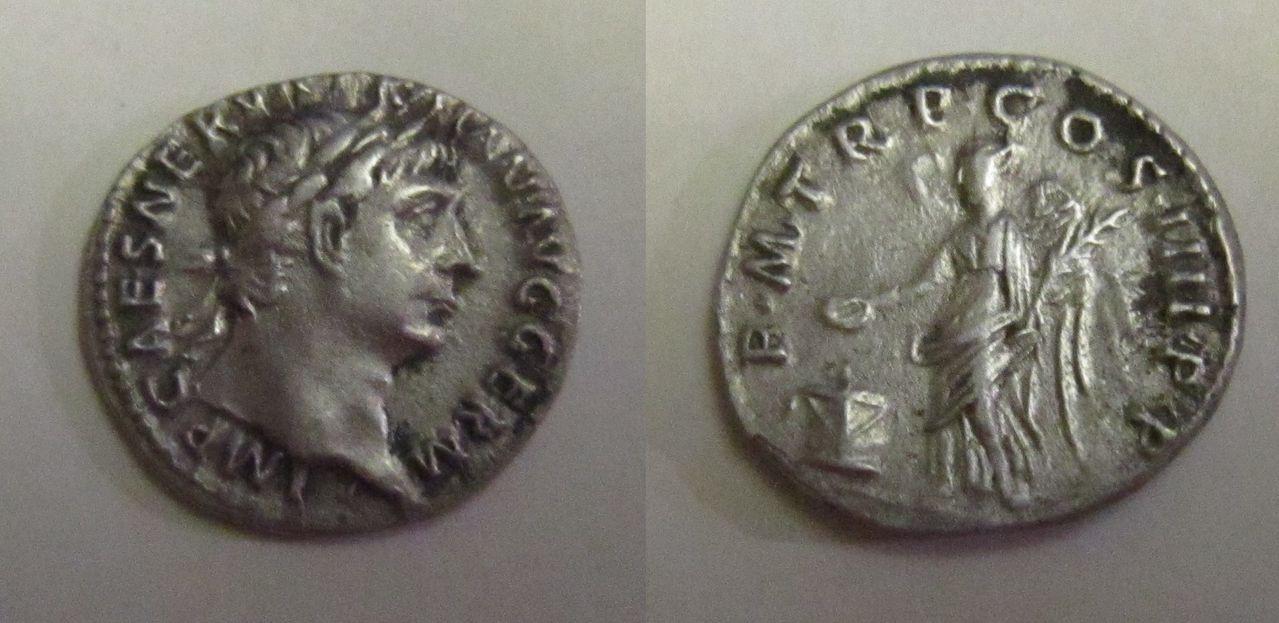 Denario de Trajano. P M TR P COS IIII P P. Roma Denario_Trajano_P_M_TR_P_COS_IIII_P_P