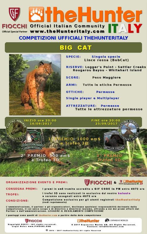 [CONCLUSA] Competizioni ufficiali TheHunteritaly - Big Cat - Lince Rossa - Manifesto_LINCE