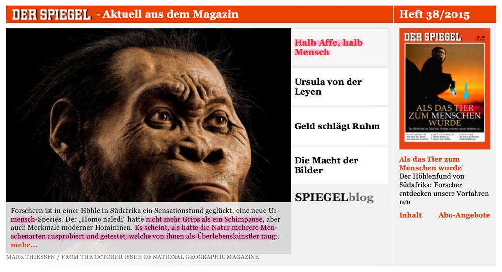 Menschen stammen NICHT vom Affen ab! Tier