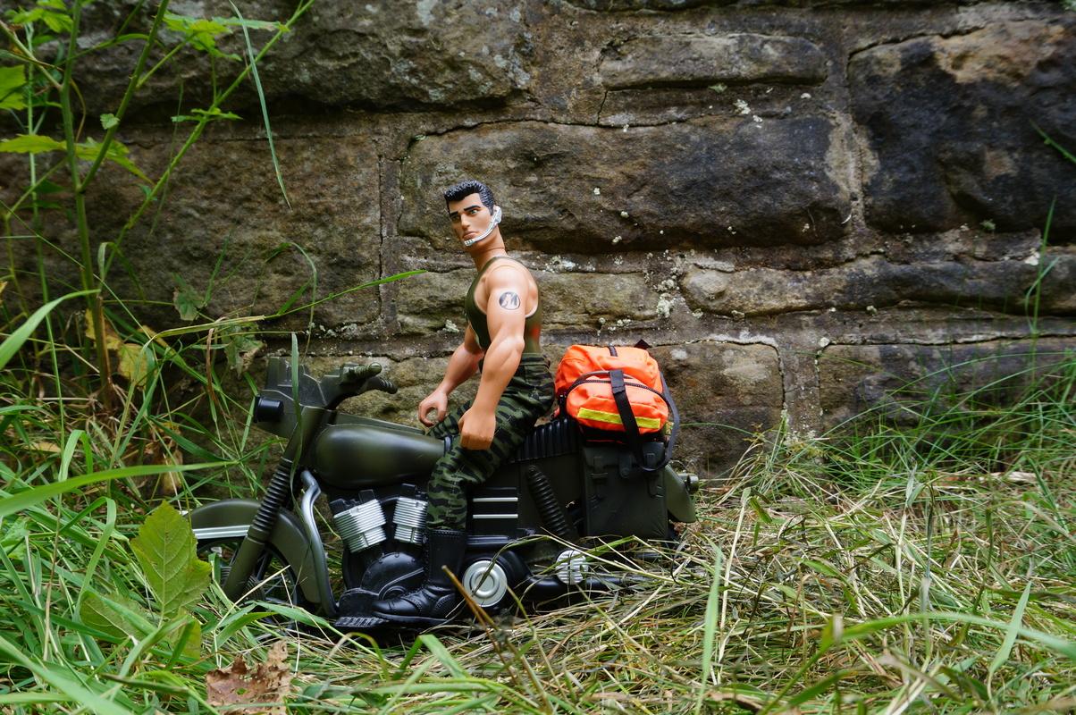 Medical rapid response motor biker posing for the camera DSC00241