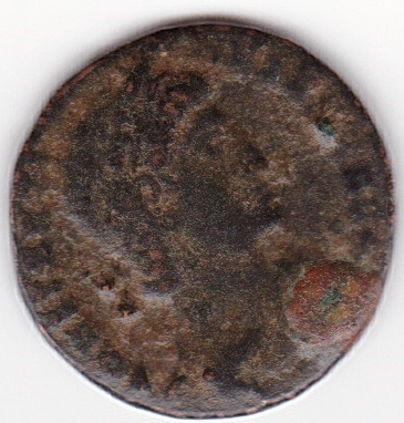 AE4 de Constantino I. GLORIA EXERCITVS. Soldados entre un estandarte. Cycico IR88_A