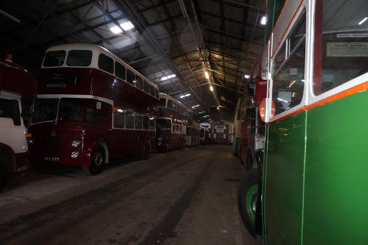 MAM visiting The Scottish Vintage Bus Museum. E922_FF5_F-_AE7_C-46_D6-_A45_B-41_F409_A3_E1_A2