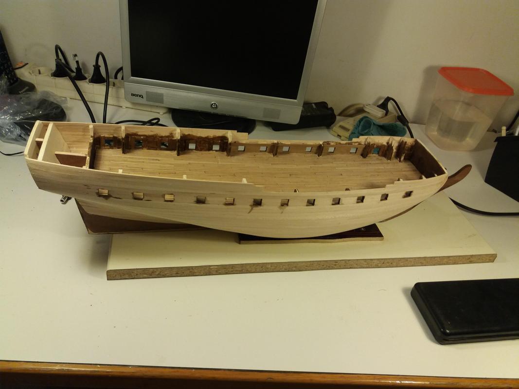 costruzione - Costruzione fregata Unicorn  Lato2