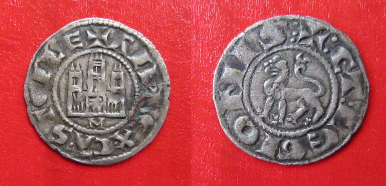 Dinero pepión de Alfonso X. Dinero_Alfonso_X_Murcia