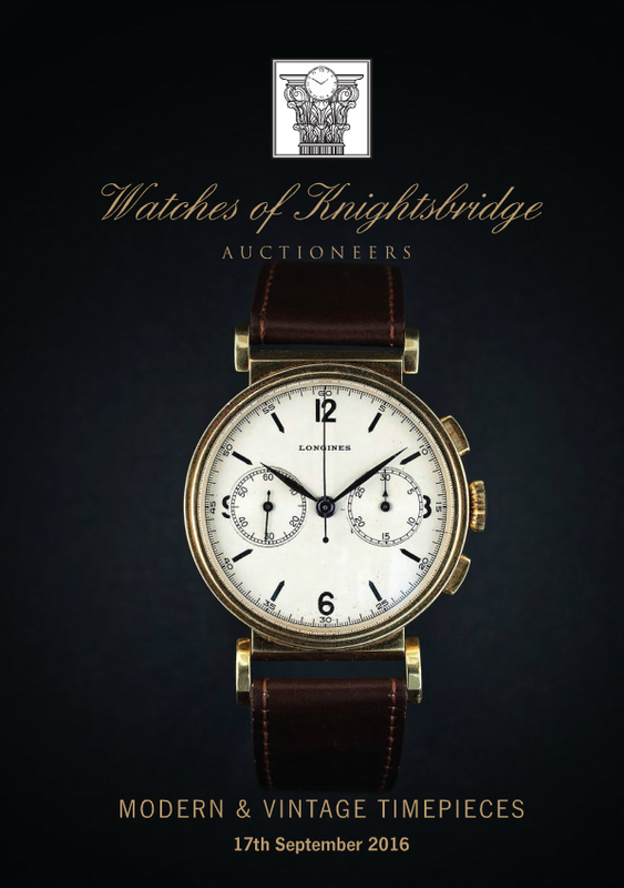 Catálogo - Watches of Knightsbridge: Modern and Vintage Timepieces – Setembro 2016 WOK_Modern_and_Vintage_Timepieces_170916