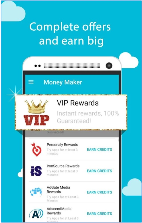 OPORTUNIDADE [Provado] Money Maker Cash App - Ganha Instalando Apps, Vendo Vídeos e Check-in Diário - RECEBIDOS $ 32,00 + € 2,00 Mmaker_VIP2version
