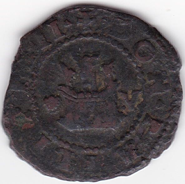 2 Maravedies de Felipe II, Coruña Es18b