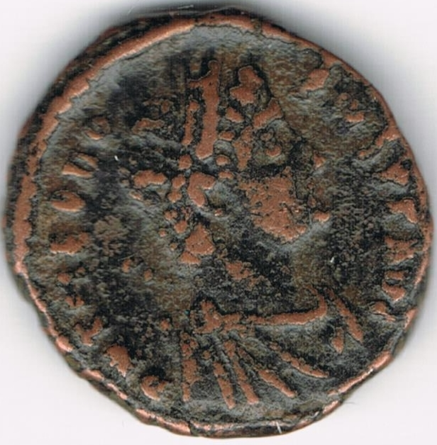 AE4 de Teodosio I. SALVS REI PVBLICAE. Antioquía IR9_A