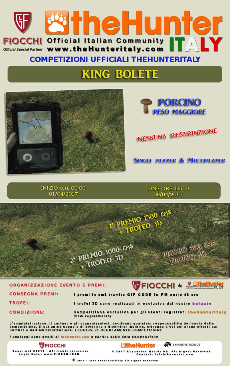[PESCE D'APRILE] Competizioni ufficiali TheHunteritaly - King Bolete - Porcino - Locandina_CORRETTA000