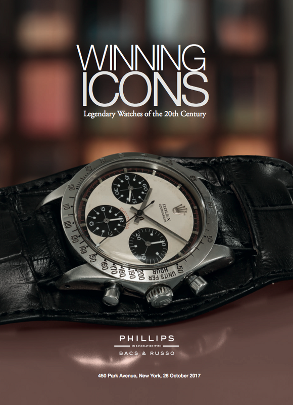 Catálogo - WINNING ICONS – Legendary Watches of the 20th Century – 26 Outubro 2017 Phillips_WINNING-_ICONS_Legendary_Watches20th_Century