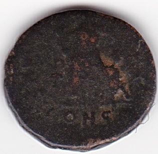 AE4 de Valentiniano II - SALVS REIPVBLICAE - Victoria y cautivo - Constantinopla Ir263b