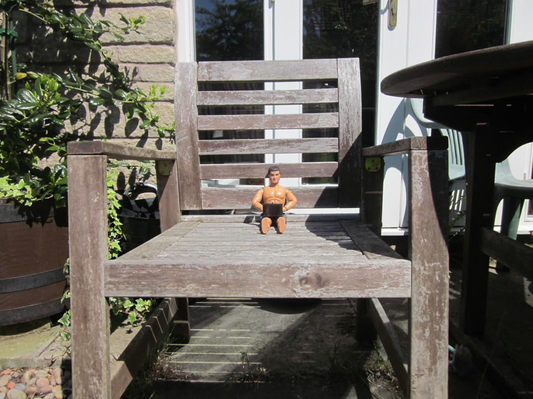Action Man outside in the sunshine working.  (Ackie88) IMG_2534