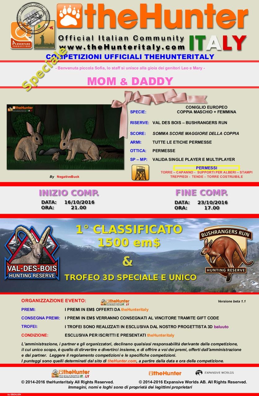 [CONCLUSA] SPECIALE Competizioni ufficiali TheHunteritaly - Mom & Daddy - Conigli europei MOM_E_Daddy