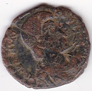 AE4 de Juliano II. FEL TEMP REPARATIO. Soldado romano alanceando a jinete caído. Antioch. Ir264a